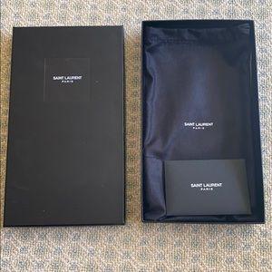 Saint Laurent box with dust bag
